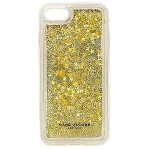 Marc Jacobs Glitter Jelly Phone Case Gold Clear